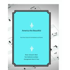 America the Beautiful, Moderate level piano solo