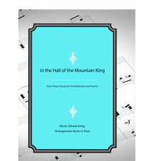 In the Hall of the Mountain King, moderate level piano solo
