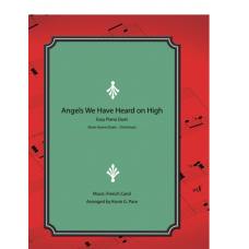 Angels We Have Heard on High, easy piano duet