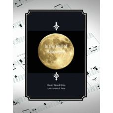 In the Hall of Halloween, easy Halloween song for vocal solo, unison choir or piano solo