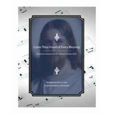 Come, Thou Fount of Every Blessing, easy piano solo with 2nd piano duet