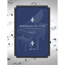 Lyrical Tone Poem No. 13 in Gb, piano solo