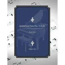 Lyrical Tone Poem No. 19 in Eb, piano solo