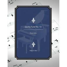 Quirky Tune No. 10, piano solo