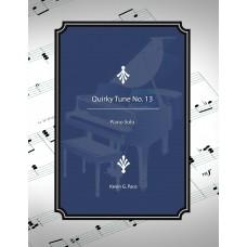 Quirky Tune No. 13, piano solo